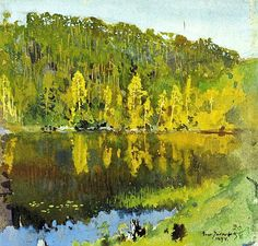 "the-paintrist: "" Eero Järnefelt - Metsälampi - 1894 Metsälampi is a beautiful lake in Finland """