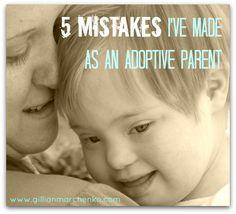 5 mistakes I've made as an adoptive parent - Gillian Marchenko | Gillian Marchenko
