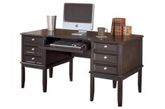 "By Ashley Furniture    Series Name:  Carlyle    Item Name:  Home Office Desk    Model #:  H371-27    Dimensions:  60""W x 30""D x 30""H    Weight:  169 lbs"