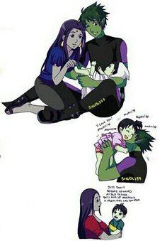 grafika raven, teen titans, and beast boy Jinx Teen Titans, Teen Titans Love, Teen Titans Fanart, Teen Titans Starfire, Original Teen Titans, Titans Anime, Time Cartoon, Cartoon Art, Young Justice Characters