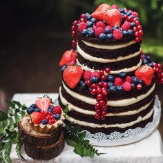 Sweet berry cake, eco decor and love pair. Rozova Photography (in russian)