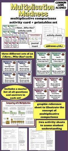 4th grade common core math lesson 4 oa 1 4 oa 2 multiplicative comparison discover more. Black Bedroom Furniture Sets. Home Design Ideas