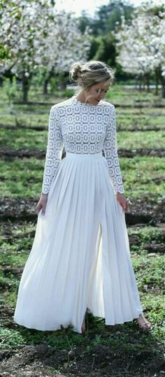 A conservative but still sexy wedding dress