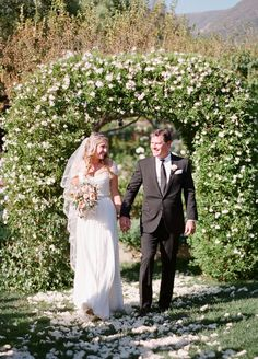 """Complete with ocean views, exquisite gardens and old world charm this outdoor venue made for the perfect locale for Erin and Scott to say, """"I Do."""""""