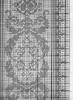 Cross Stitch Embroidery, Embroidery Patterns, Crochet Patterns, Cross Stitch Borders, Cross Stitch Patterns, Cross Stitches, Thread Crochet, Filet Crochet, Blackwork