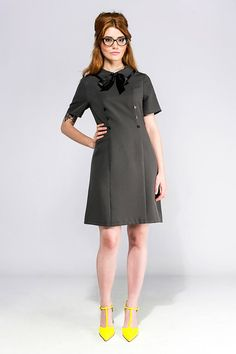 SAMPLE SALE Size M Mod secretary grey A line mod dress retro