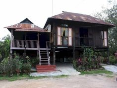 Image result for Traditional Muslim Malay Wooden House