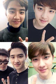 Kyungsoo's adorable 2015 selcas #exo #DO #kyungsoo