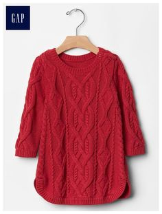 Cable knit dress, size 6-9 or 9-12