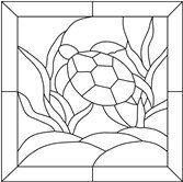 Stained Glass Pattern  Turtle Honu at Sea by StainedGlassDanaLin, $10.00