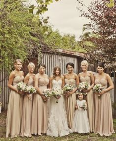 Beautiful Nude Colour Scheme For This Rustic Wedding