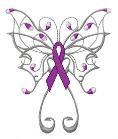 Lupus awareness machine embroidery ribbon. I'm sure this with a color change could be used for many of the different awareness causes.