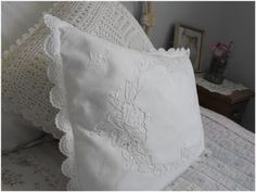 A vintage doily made into a pillow