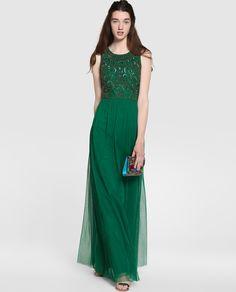 Vestidos de fiesta El Corte Inglés 2018 Vestido largo verde