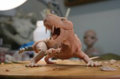 Cool Polymer Clay Sculpture! Gorgonops in progress by stablefly