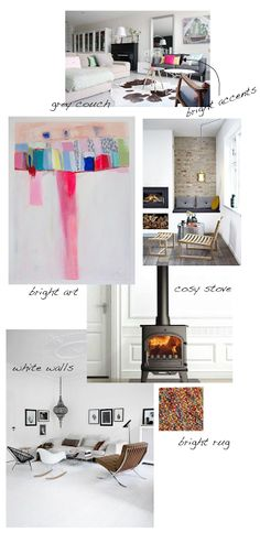 Mood board for my living room