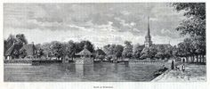 Antique print Broek in Waterland North Holland 1887