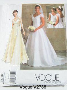 Vogue Wedding Dress Pattern V2788 - Misses' Dress - Vogue Bridal Original - Sz 18/20/22. $20.00, via Etsy. without the sleeves