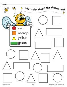 6 FREE Bee Themed Shapes Coloring Pages Practice color and shape recognition with your toddlers, preschoolers, and kindergartners using these fun bee themed shapes coloring pages! Shape Worksheets For Preschool, Shapes Worksheet Kindergarten, Pre K Worksheets, Preschool Coloring Pages, Shapes Worksheets, Free Preschool, Preschool Printables, Preschool Activities, Preschool Shapes