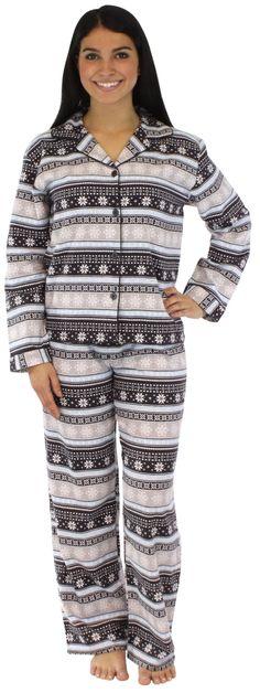 PajamaMania Women's Flannel Long Sleeve Pajamas