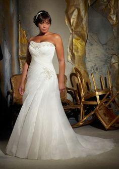 New white/ivory wedding dress gown Plus Custom Size:16 18 20 22 24++