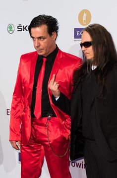 Till and Peter Till Lindemann, Heavy Metal, Oliver Riedel, Richard Kruspe, Houses Of The Holy, Hair Again, Black Suits, Good Looking Men, Led Zeppelin