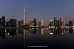 Skyline Dubai with Burj Khalifa