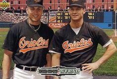 RARE 1992 UPPER DECK IRON & STEAL CAL RIPKEN BRADY ANDERSON BALTIMORE ORIOLES