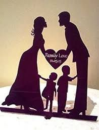 Our Stunning Silhouette Bride & Groom Family Love Wedding Cake Toppers & Garden Wedding With Kids, Wedding Couples, Our Wedding, Wedding Beach, Wedding Ideas, Wedding Cake Toppers, Wedding Cakes, Couple Silhouette, Silhouette Cake