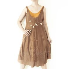 Sale 20 Off Two Layered Sleeveless Cotton Dress in by oOlives, $39.00