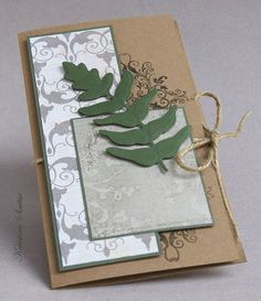 The greeting envelope adds a fern leaf. (c) by Katerina Sinitsa