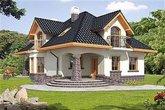 House design with an attic Ariadna III with an area with envelope roof, with tare . - House design with an attic Ariadna III with an area with an envelope roof, with a terrace, - New Modern House, Small Modern House Plans, Beautiful House Plans, Home Design Images, House Design Pictures, Simple House Design, Modern House Design, Style At Home, Small Loft Apartments