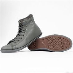 Grey leather Converse