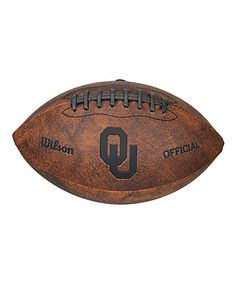 Oklahoma Sooners Vintage Throwback Football on zulily today!