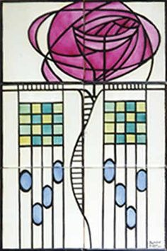 stained glass windows on pinterest charles rennie. Black Bedroom Furniture Sets. Home Design Ideas