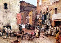 #DonneInCitta #ViRaccontoLitalia @SaiCheARoma @GiuseppeTurrisi Ettore Roesler Franz  Portico d 'Ottavia, 1888 Roma