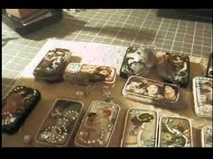 Altered Domino pins and book mark.AVI