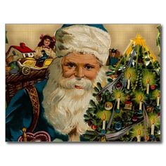 Vintage Santa Claus- Happy Holidays: Postcards