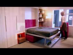 Transforming Micro-Apartment at the Museum of the City of New York - YouTube | Resource Furniture #video #transform