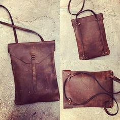 Eerste ontwerp eigen collectie gefinaliseerd. 'enveloop' - First design own collection finished 'enveloop' #proud #leathercraft #leatherbag #leatherwork #leathercrafts #bag #bagpack #craft #creative #dim #diditmyself #handmade #maroquinerie #passion #uniquepiece #uniquebag #rust #colourrust #
