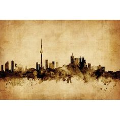 East Urban Home Foxed (Retro) Skyline Series: Toronto, Canada by Michael Tompsett Graphic Art on Wrapped Canvas Size:
