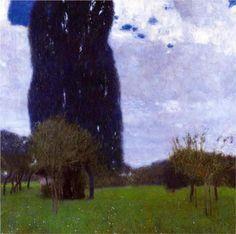 The Tall Poplar Trees II - Gustav Klimt