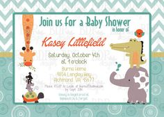 Lambs & Ivy Yoo-Hoo Jungle Baby Shower Invitation by BDPDesigns