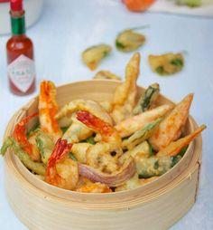 Tempura légumes et crevettes