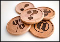 Punctuation coasters. #typography