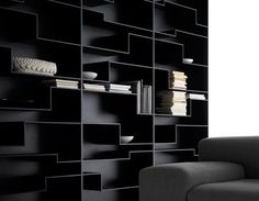 Melody bookcase by MDFITALIA This is something I look for...