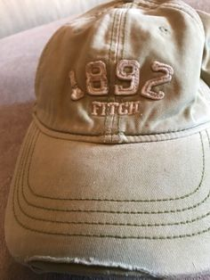 5f26f6594ea Vintage Distressed Abercrombie  amp  Fitch Green Baseball Fitted Hat Size  S M Moose