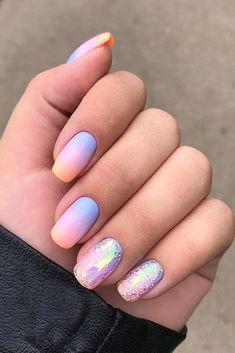 108 cute nail art designs for short nails 2019 11 Cute Nail Art Designs, Cute Summer Nail Designs, Ombre Nail Designs, Colorful Nail Designs, Colorful Nails, Round Nail Designs, Maroon Nail Designs, Beach Nail Designs, Short Nail Designs