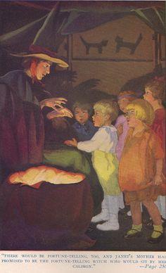 vintage Halloween illustration, 1923