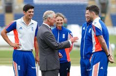 Pin for Later: Charles and Camilla Obviously Had Fun in Wales Alastair Cook, Prince Charles, Charlotte Edwards, Jos Butler, and James Anderson